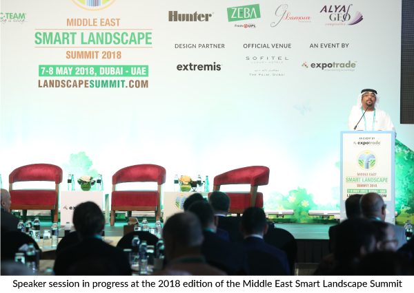 The Middle East Smart Landscape Summit begins in Dubai next month