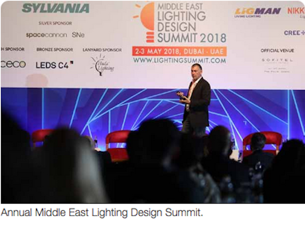 Middle East Lighting Design Summit to begin next week
